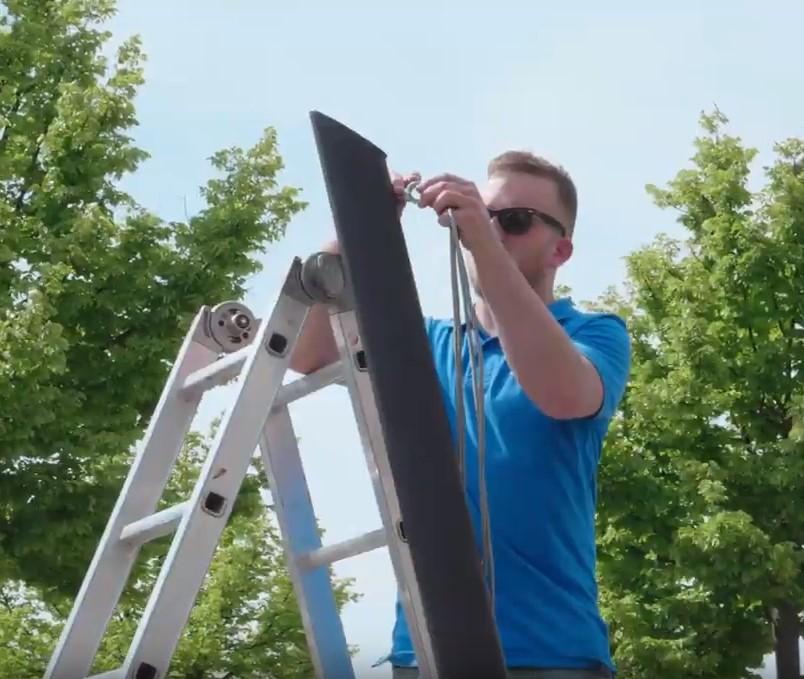 installatie van zeilluifels