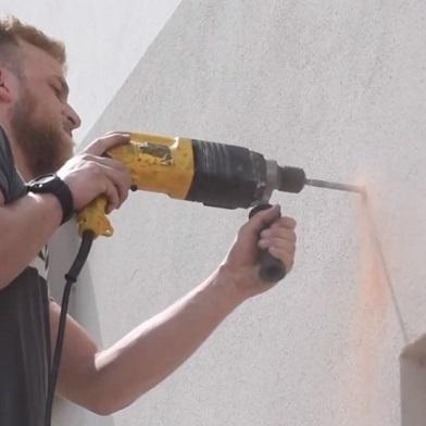 muurplaatmontage voor schaduwzeilen