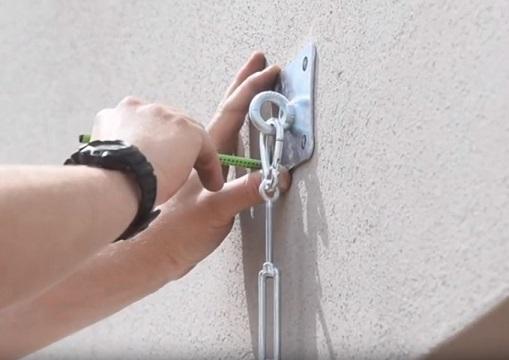 muurverankering voor schaduwzeilen