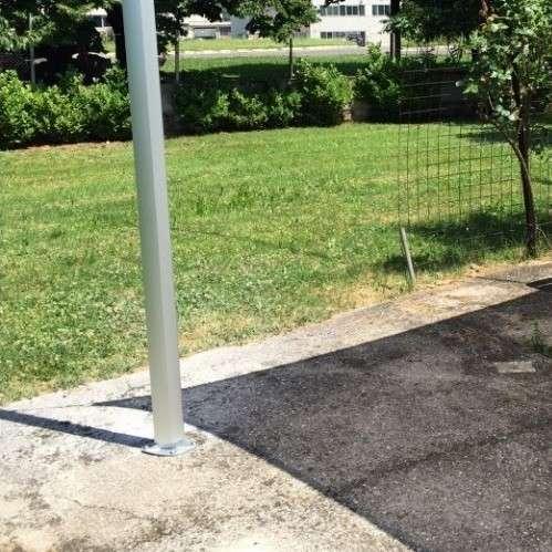 palen voor schaduwzeilen gewapend beton oppervlak