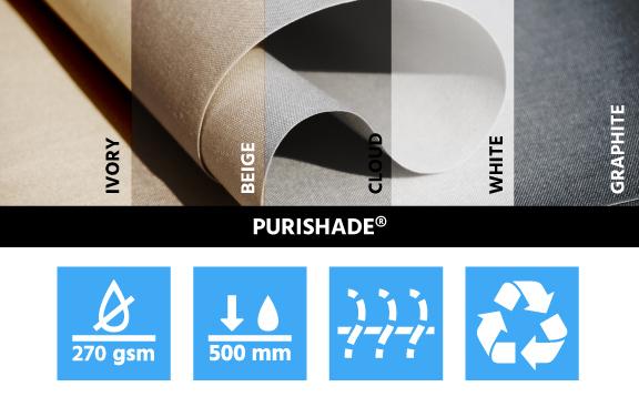 polyester stof met schaduwzeilen